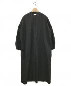 UNITED ARROWS(ユナイテッドアローズ)の古着「バルーンスリーブシャツワンピース」|ブラック