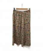 UNTITLED(アンタイトル)の古着「オリエンタルフラワーロングスカート」|ベージュ