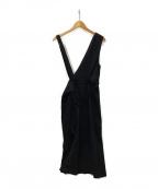 LOUNIE()の古着「アシンメトリージャンパースカート」|ブラック