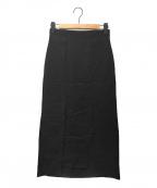 ebure(エブール)の古着「リネンスカート」 ブラック