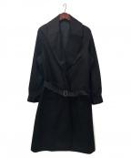 BLURHMS(ブラームス)の古着「High C/Twill Motorcycle Coat」 ブラック