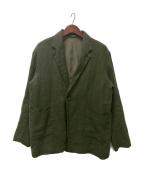 nestrobe confect(ネストローブ コンフェクト)の古着「Brushed Linen Tailored Jacket」 オリーブ