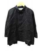 ()の古着「nukka刺繍ワイドシャツ」 ブラック
