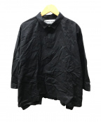 STAMP AND DIARY(スタンプアンドダイアリー)の古着「nukka刺繍ワイドシャツ」|ブラック