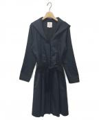 LANVIN en Bleu()の古着「フーデッドコート」 ネイビー