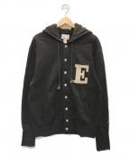 EVISU(エビス)の古着「スナップボタンスウェットパーカー」|ブラック