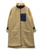 PRIMALCODE(プライマルコード)の古着「BOA LONG COAT/ボアロングコート」 ベージュ