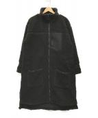 ()の古着「BOA LONG COAT/ボアロングコート」|ブラック