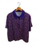 PRIMALCODE(プライマルコード)の古着「ピーコックペイズリーポロシャツ」 パープル