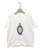MUVEIL(ミュベール)の古着「パフュームアートプリントTシャツ」|ホワイト