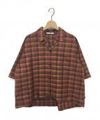 pelleq(ペレック)の古着「チェックシャツ」 ブラウン