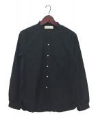 ()の古着「バンドカラーシャツ」|ブラック