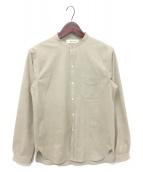 ()の古着「バンドカラーシャツ」|ベージュ