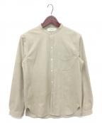WRYHT(ライト)の古着「バンドカラーシャツ」|ベージュ