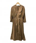 EMMEL REFINES(エメル リファインズ)の古着「ブラウスワンピース」|ブラウン