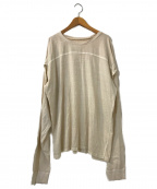 TODAYFUL(トゥデイフル)の古着「Sleeve Slit Long T-Shirts」 ベージュ