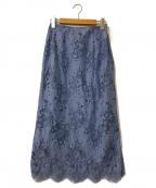 Spick and Span(スピックアンドスパン)の古着「ラッセルレーススカート」|ライトブルー