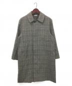leno(リノ)の古着「STAND FALL COLLAR COAT」|グレー
