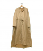 MACPHEE(マカフィー)の古着「コットンシャンブレーツイルシャツワンピース」|ベージュ