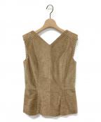Maison Margiela 1(メゾンマルジェラ 1)の古着「ノースリーブブラウス」|キャメル