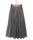 ()の古着「ランダムプリーツスカート」|グレー
