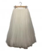 TSURU by MARIKO OIKAWA(ツルバイマリコオイカワ)の古着「チュールロングスカート」 ホワイト