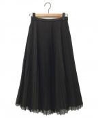 TSURU by MARIKO OIKAWA(ツルバイマリコオイカワ)の古着「プリーツスカート」 ブラック
