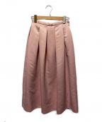 TSURU by MARIKO OIKAWA(ツルバイマリコオイカワ)の古着「タックフレアスカート」 ピンク