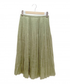 DRESSTERIOR(ドレステリア)の古着「オーガンジープリーツスカート」|オリーブ