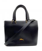 LONGCHAMP(ロンシャン)の古着「2WAYバッグ」 ブラック