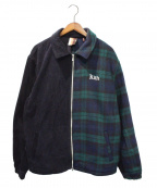 KITH(キス)の古着「Coaches Jacket Blackwatch」 グリーン×ネイビー