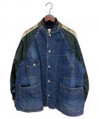 sacai(サカイ)の古着「ドッキングデニムジャケット」|インディゴ
