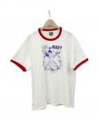 THE REAL McCOY'S(ザリアルマッコイズ)の古着「MILITARY TEE / JOIN THE NAVY」 ホワイト×レッド