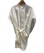 LE PHIL(ル フィル)の古着「サイドスリットロングブラウス」 ホワイト