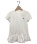 BORDERS AT BALCONY(ボーダーズアットバルコニー)の古着「異素材ミックスヘムフリルTシャツ」 ホワイト