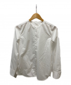 DES PRES(デプレ)の古着「ノーカラーシャツ」|ホワイト