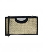 PELLICO(ペリーコ)の古着「ストラップ付ハンドバッグ」|ブラック/ベージュ