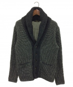 GABRIELE PASINI(ガブリアルパジーニ)の古着「ショールカラーカーディガン」|ブラック×ホワイト