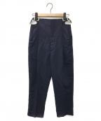 TOGA PULLA(トーガプルラ)の古着「サイドベルトパンツ」 ネイビー