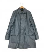 PHIGVEL(フィグベル)の古着「ステンカラーコート」|スカイブルー