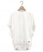 BLAMINK(ブラミンク)の古着「吊裏毛ロゴショートスリーブプルオーバー」|ホワイト