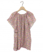 BLAMINK(ブラミンク)の古着「コットンシルクフラワープリントブラウス」|ピンク