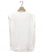 HYKE(ハイク)の古着「CORDURAノースリーブBIG FIT Tシャツ」|ホワイト