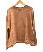 ()の古着「スーパーハイゲージスウェットビッグL/S Tシャツ」 ブラウン