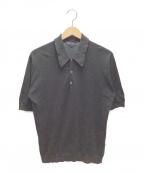 JOHN SMEDLEY(ジョンスメドレー)の古着「ニットポロシャツ」|ブラック