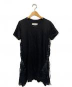 sacai(サカイ)の古着「デザインカットソーチュニック」|ブラック