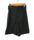 RAY BEAMS(レイ ビームス)の古着「タックウエストショートパンツ」|ブラック