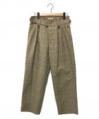 Black Weirdos(ブラック ウィドゥ)の古着「Tailored Wide Pants」|ベージュ