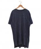 GROUND Y(グラウンドワイ)の古着「シワ加工ロングTシャツ」 ネイビー