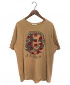 UNDERCOVERISM(アンダーカバーイズム)の古着「J.S BACH プリントTシャツ」|ベージュ